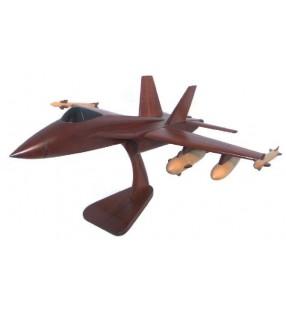 Le F 18, maquette avion en bois, déco pour collectionneurs