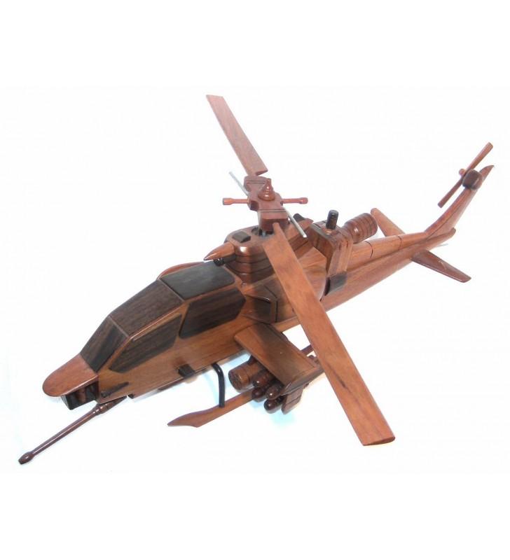 Hélicoptère Cobra, maquette en bois, déco pour collectionneurs