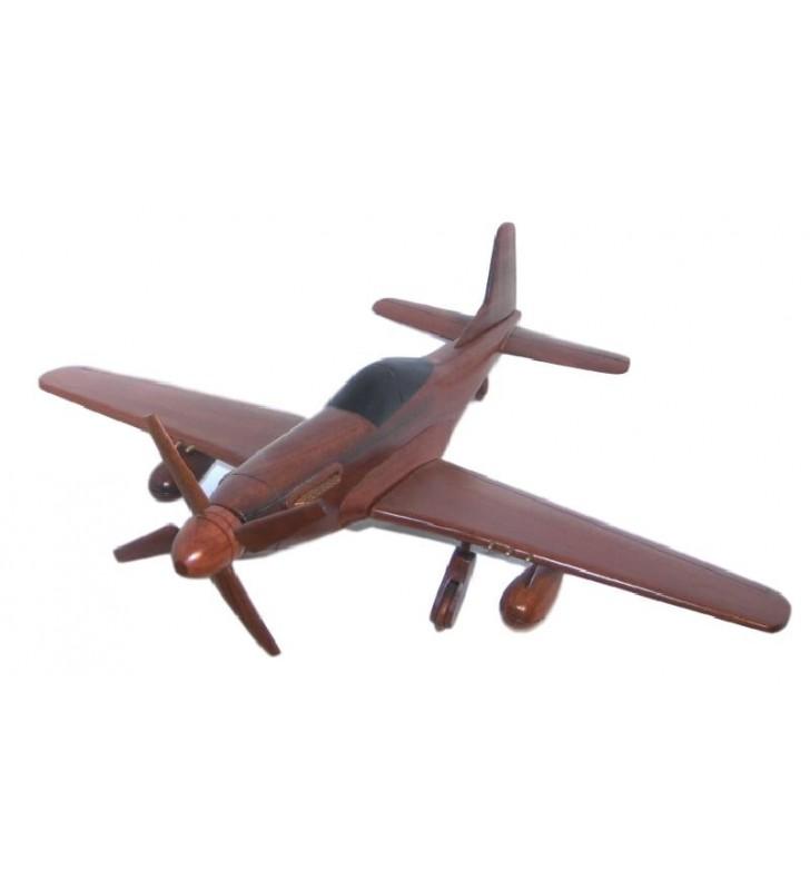 Le Mustang P51, maquette avion en bois, déco pour collectionneurs