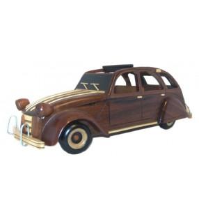 Maquette de 2 CV en bois, déco pour collectionneurs