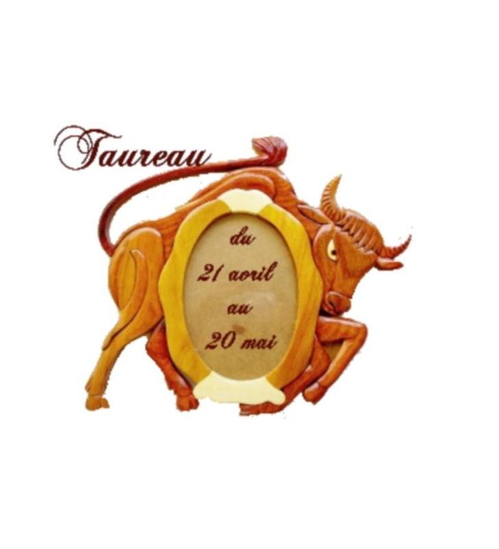 Cadre photo astrologique, signe taureau