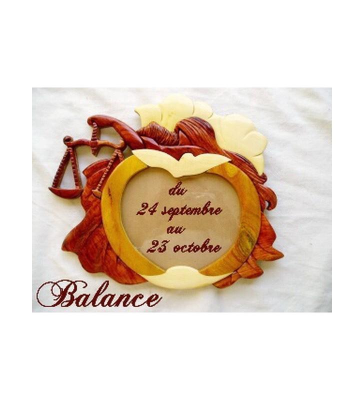 Cadre photo astrologique, signe Balance