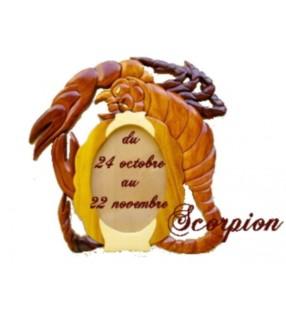 Cadre photo astrologique, signe Scorpion