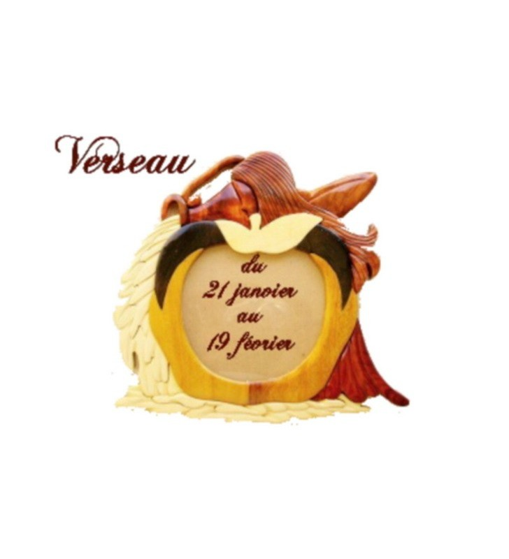 Cadre photo astrologique, signe Verseau