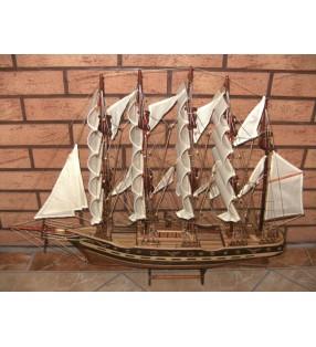 France II, maquette bateau en bois, déco pour collectionneurs
