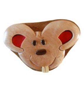 Boîte à dents de lait en bois, modèle Souris
