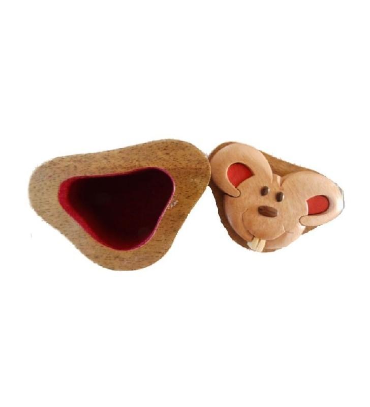 Intérieur de la boîte à dents de lait en bois, modèle Souris