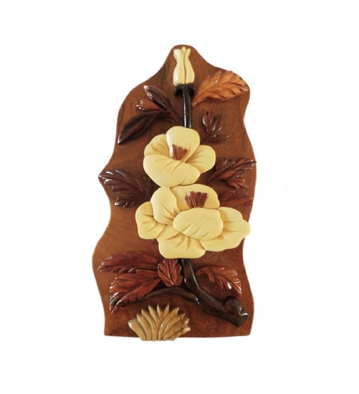 Boîte à secrets en bois, modèle Fleurs