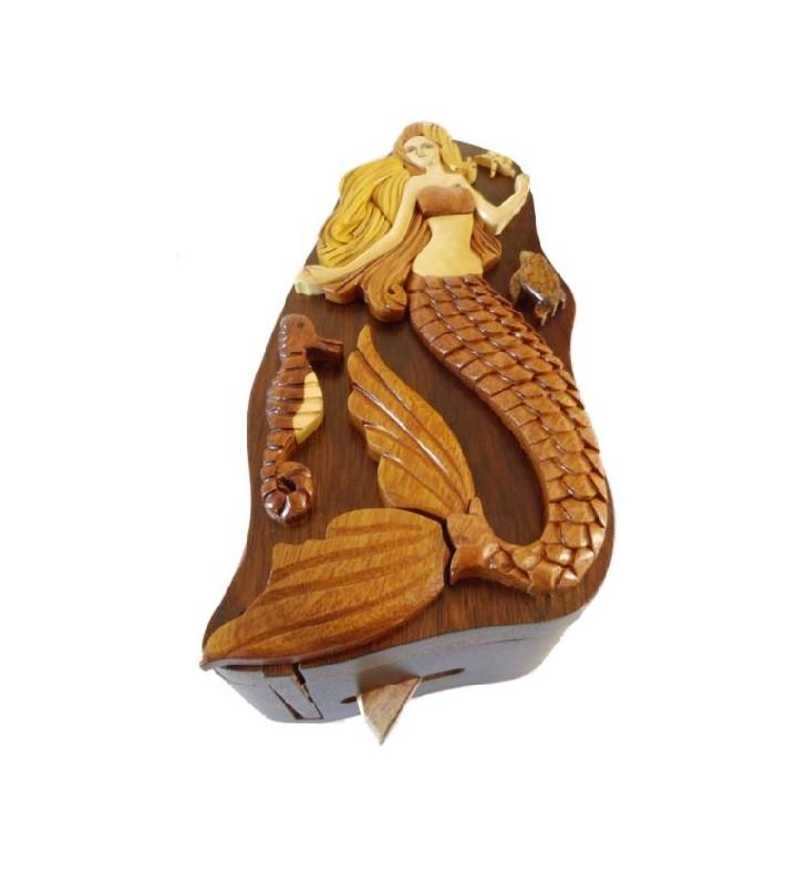 Boîte secrète en bois, Sirène