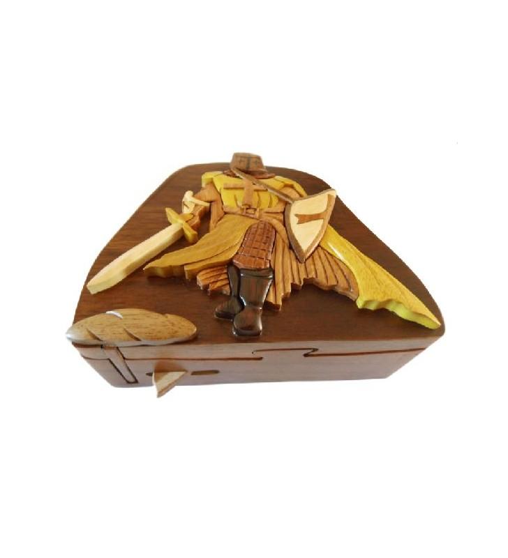 Boîte à secrets en bois, Chevalier