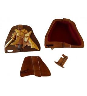 Intérieur de la boîte secrète puzzle en bois, Chevalier