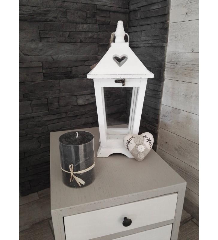 Lanterne en bois blanchi pour déco tendance et actuelle