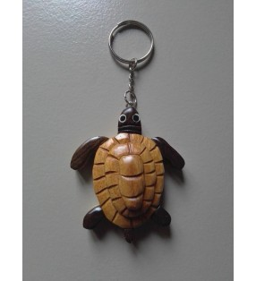 Porte-clés en bois, tortue