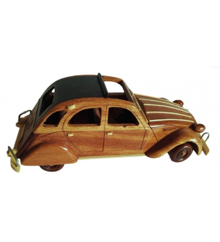 Maquette de 2 CV en bois pour collectionneurs