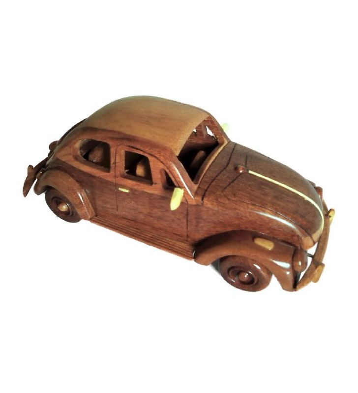 Maquette de voiture de collection Coccinelle VW en bois