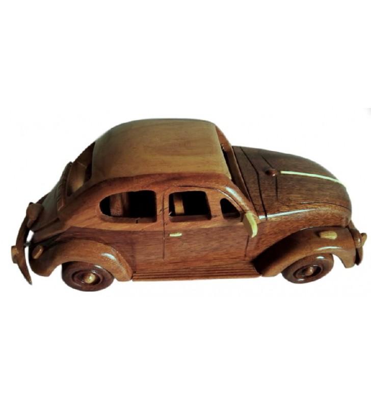 Maquette de voiture mythique, Coccinelle Volkswagen en bois