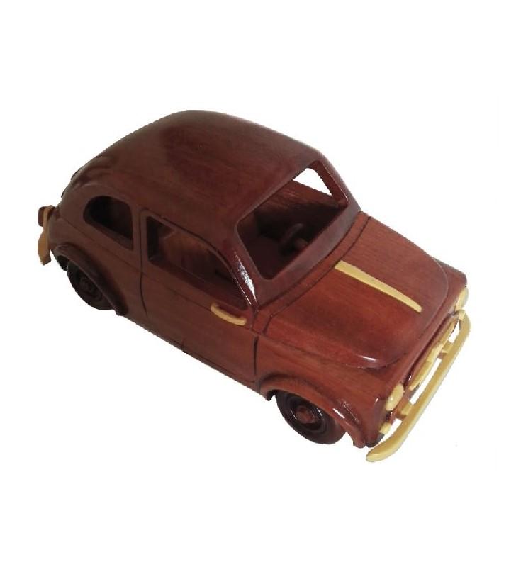 Maquette de voiture de collection Fiat 500 en bois