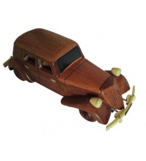 Maquette de voiture de collection en bois, modèle Traction
