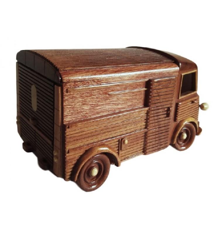 Maquette de la camionnette TUB Citroën en bois