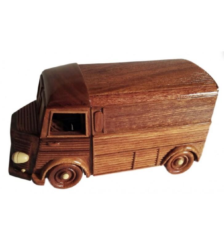 Maquette de camionnette mythique, TUB Citroën, en bois