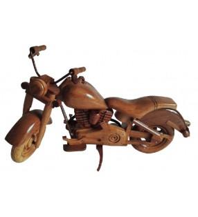 Maquette de moto en bois, modèle Harley