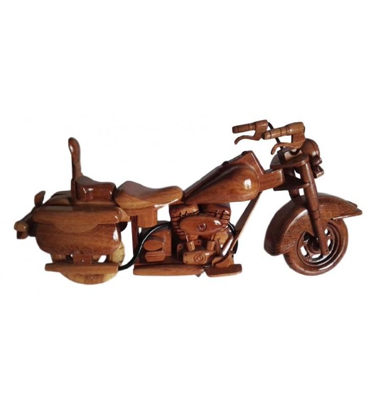Maquette de moto en bois, modèle Harley Davidson, pour collectionneurs