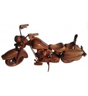 Maquette de moto en bois, modèle Harley Davidson