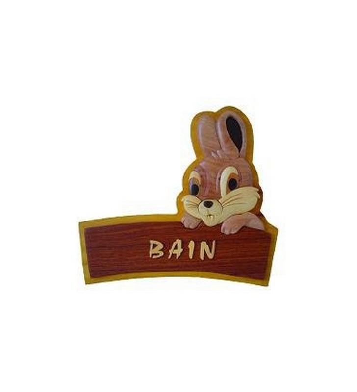 Plaque de porte pr nom en bois lapin passion deco - Plaque de porte prenom ...