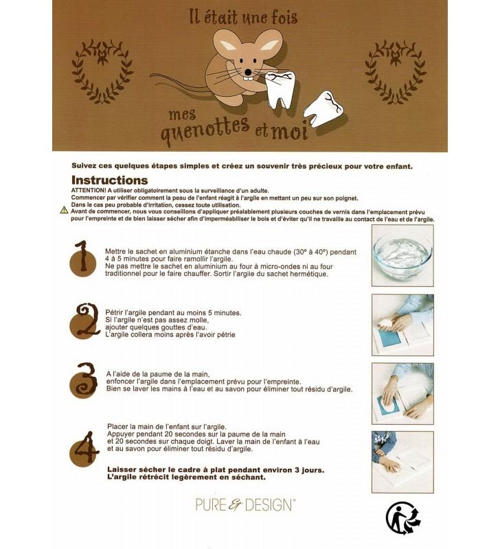 Notice explicative pour la réalisation de l'empreinte de la main