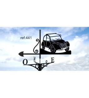 Girouette de toit Citroën 2CV découvrable, en acier ou en inox