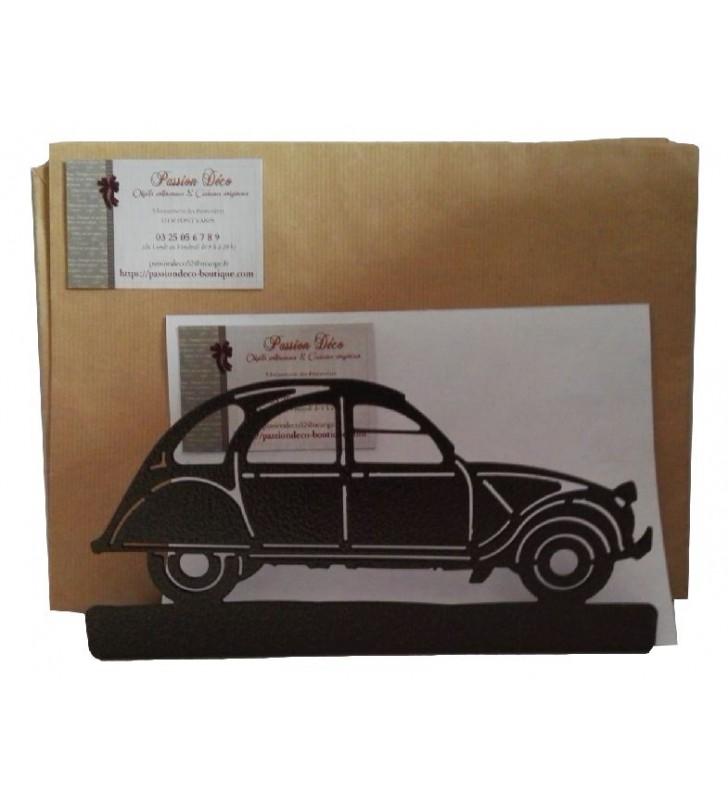 Porte-lettres en métal, Citroën 2 CV