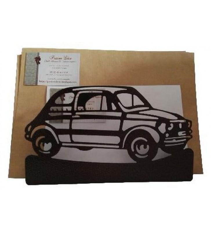 Porte-lettres en métal, Fiat 500
