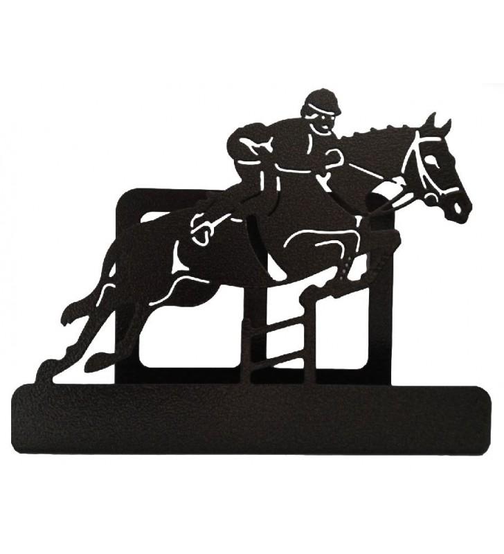 Porte-courrier original en métal, décor Sauts d'obstacles