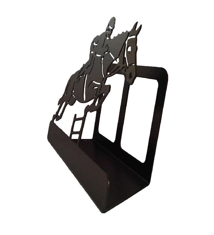 Porte-lettres original en métal, décor sauts d'obstacles