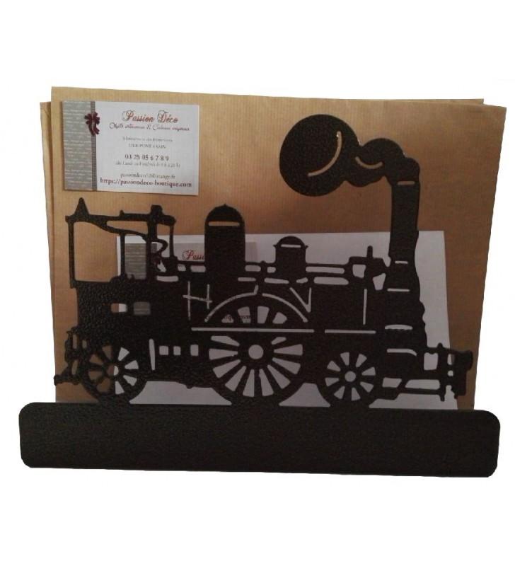 Porte-lettres original, décor Locomotive à vapeur
