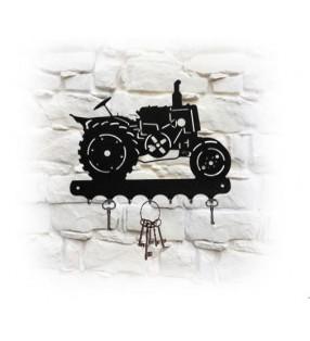 Accroche-clés mural en métal, décor tracteur Vierzon