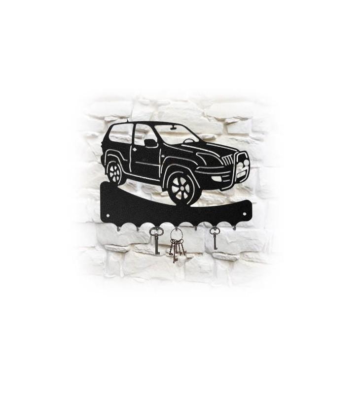 Accroche-clés mural en métal, décor 4x4 Toyota