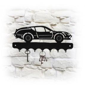Accroche-clés mural en métal, décor Alpine A310