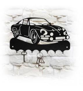 Accroche-clés mural en métal, décor Alpine A110