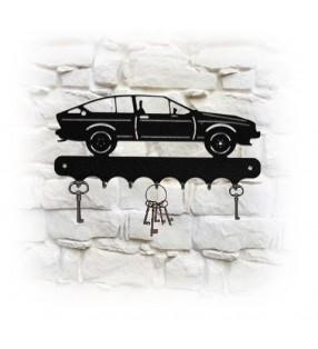 Accroche-clés mural en métal, décor Alfa Roméo GTV V6
