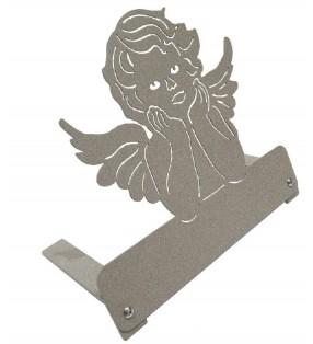 Plaque funéraire en métal originale, motif Angelot