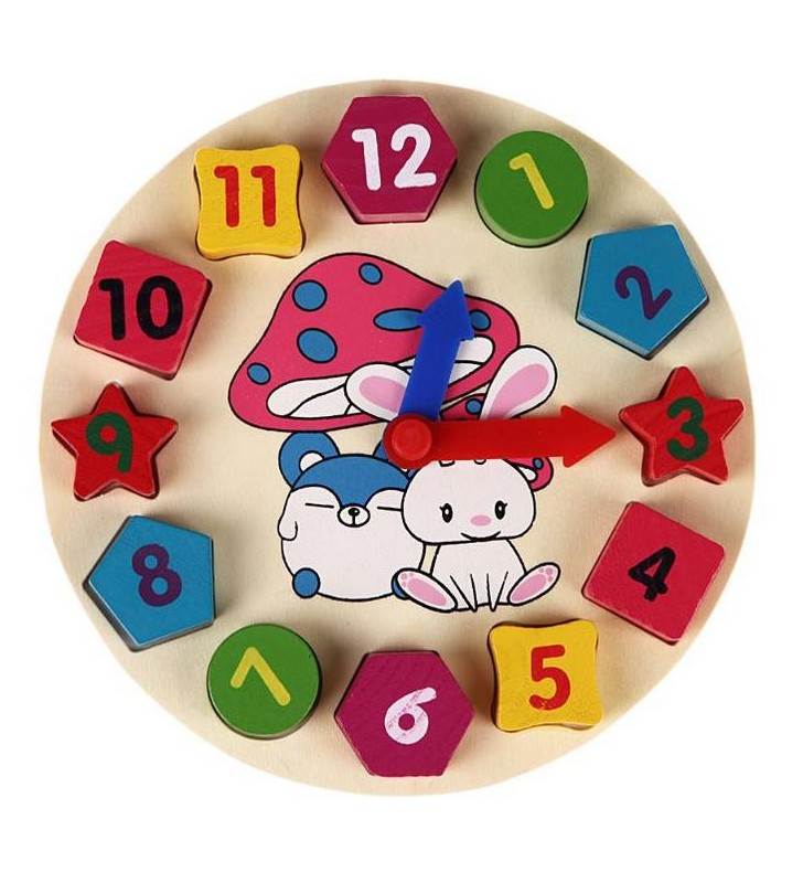 Horloge en bois ludique pour enfant