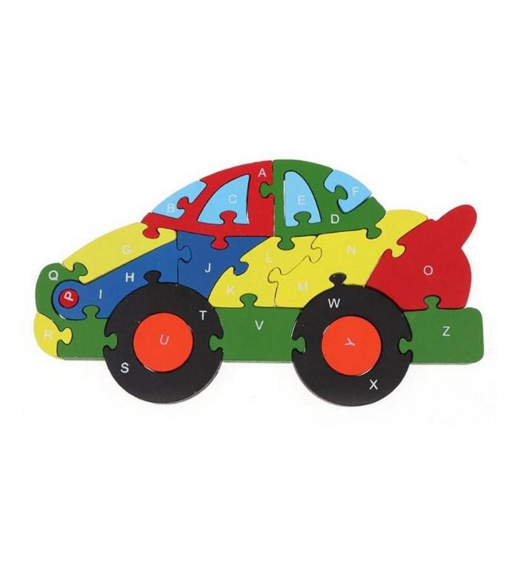 Puzzle 3D, apprentissage chiffres et lettres, modèle voiture