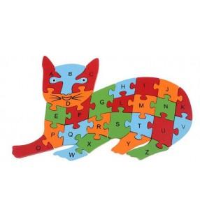 Puzzle 3D, apprentissage chiffres et lettres, modèle chat