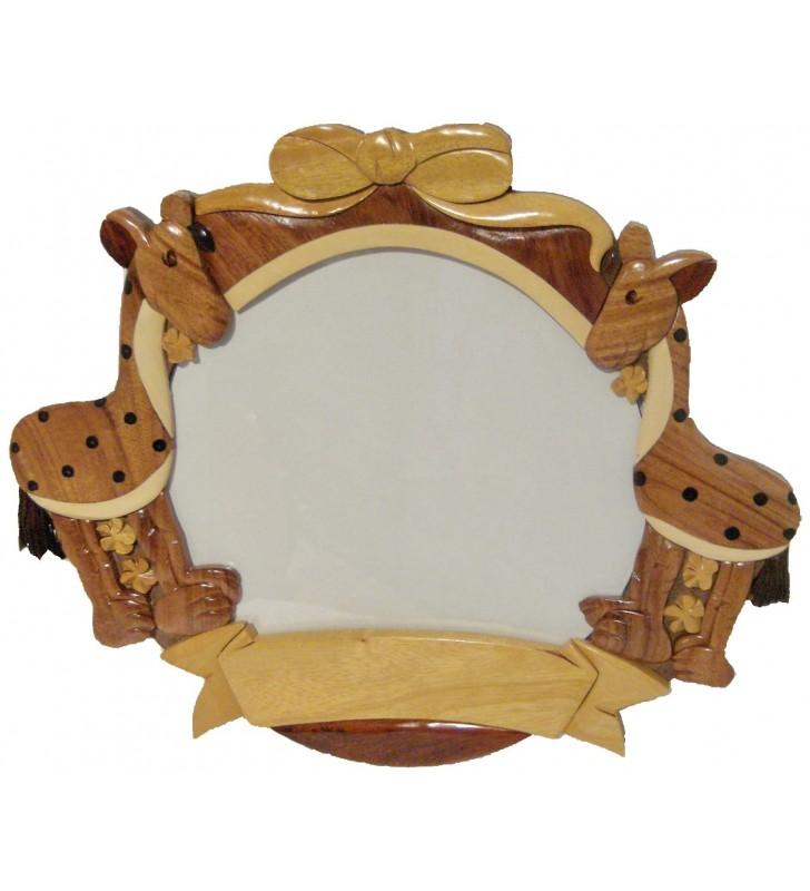 Cadre Photo Pêle-Mêle  / Plaque prénom en bois GIRAFES