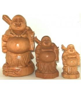 Bouddhas rieurs en bois du Vietnam
