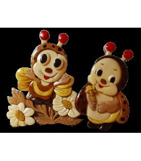 Decorations en bois pour chambre d'enfants et listes de naissance, motif Abeille et Coccinelle