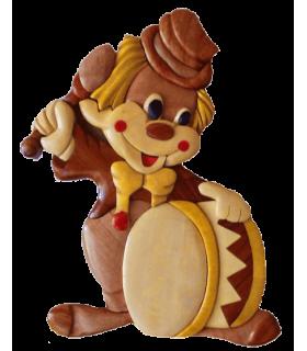 Decoration en bois pour chambre d'enfants, motif clown ou cirque