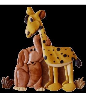 Décorations en bois pour chambre d'enfants, thème savane ou jungle, avec prénom