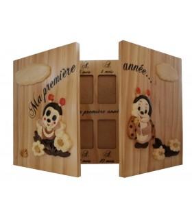 Cadres photos bébé et enfant en bois pour décoration de chambre - PASSION DECO